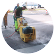 Grinding and milling of concrete